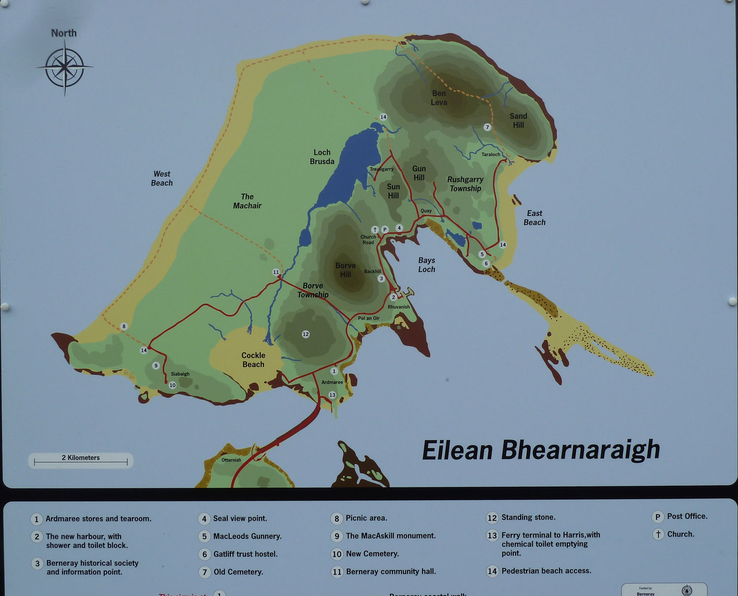 Map of Berneray  Isle of North Uist